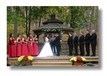 Brown County Indiana Wedding Gazebo